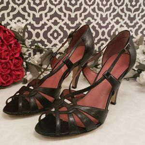 Tahari Admire black strappy heels